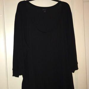 Torrid Black Scoop Neck Shirt Size 4